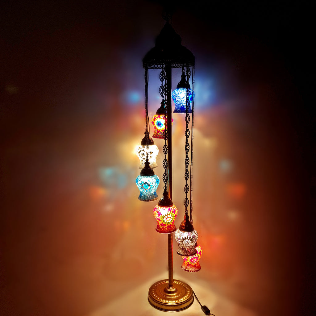 7IN1 Handmade Turkish Moroccan Style Floor Lamp Light