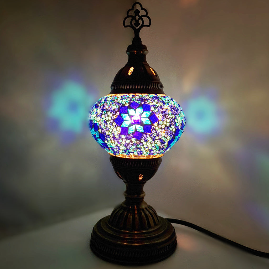 Handmade Turkish Moroccan Arabian Eastern Bohemian Tiffany Style Glass Mosaic Beautiful Table Lamp Lamps Home Decor Tree