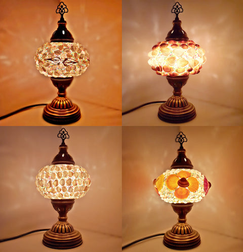 Handmade Shell Glass Mosaic Table Lamp