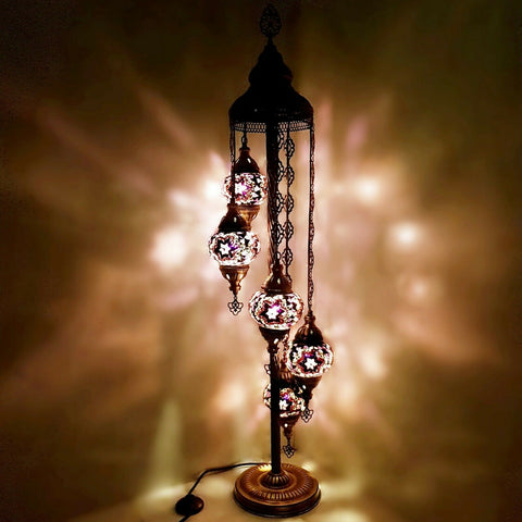 5IN1 Handmade Turkish Moroccan Style Floor Lamp Light