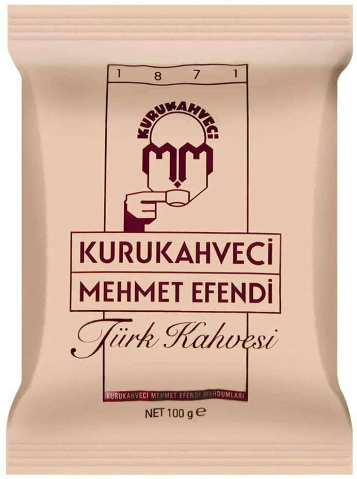 Turkish Coffee Ground Roasted Quality Beans Kurukahveci Mehmet Efendi 100g