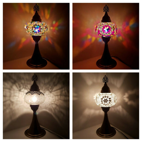 Turkish Moroccan Colourful Glass Mosaic Lamp Light Tall Table Lamp CE Certified