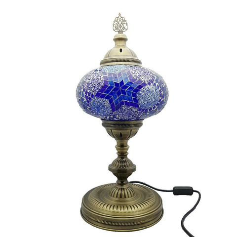 Handmade Extra Large Turkish Moroccan Glass Mosaic Desk Table Lamp