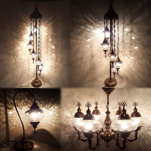 Turkish Ottoman Style Glass Lamps