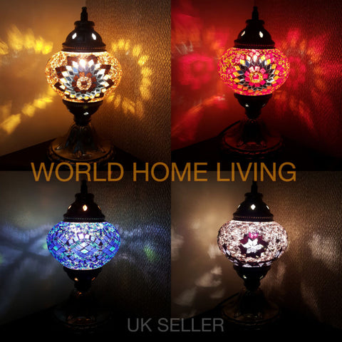 Turkish Glass Mosaic Table Lamps