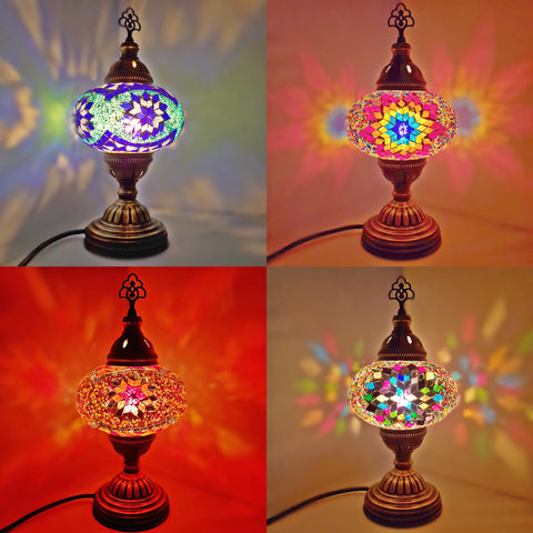 Turkish Glass Mosaic Table Lamps Large Glass