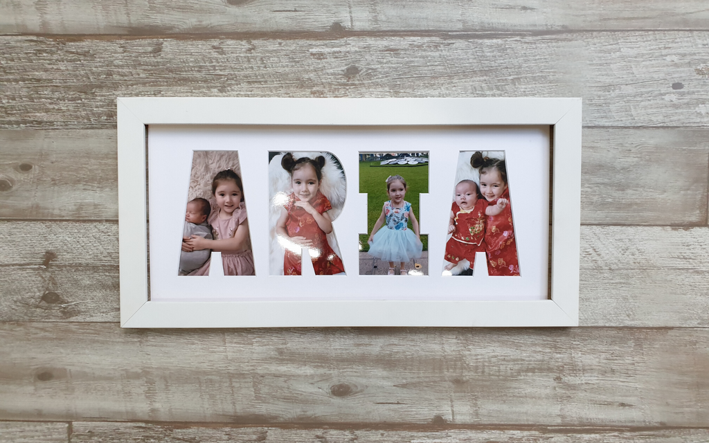 Custom Letter Frame in White - Foreva Yours - Impressions & Framing