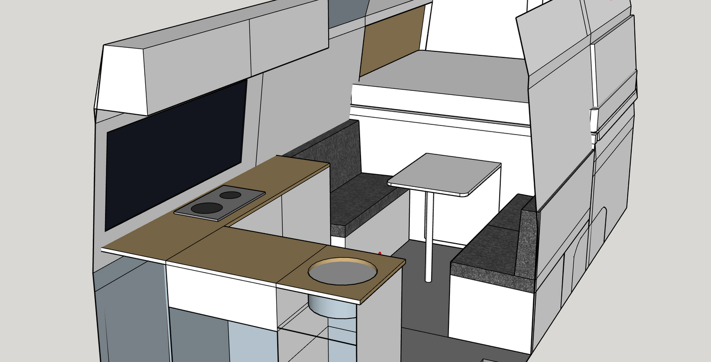 how to draw your campervan conversion in sketchup