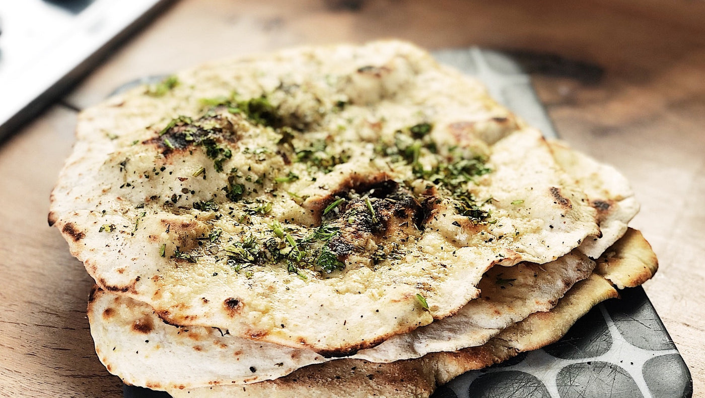 Frying Pan Naan Bread - Quick and Easy No Yeast Recipe