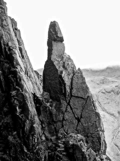 Napes needle rock climbing