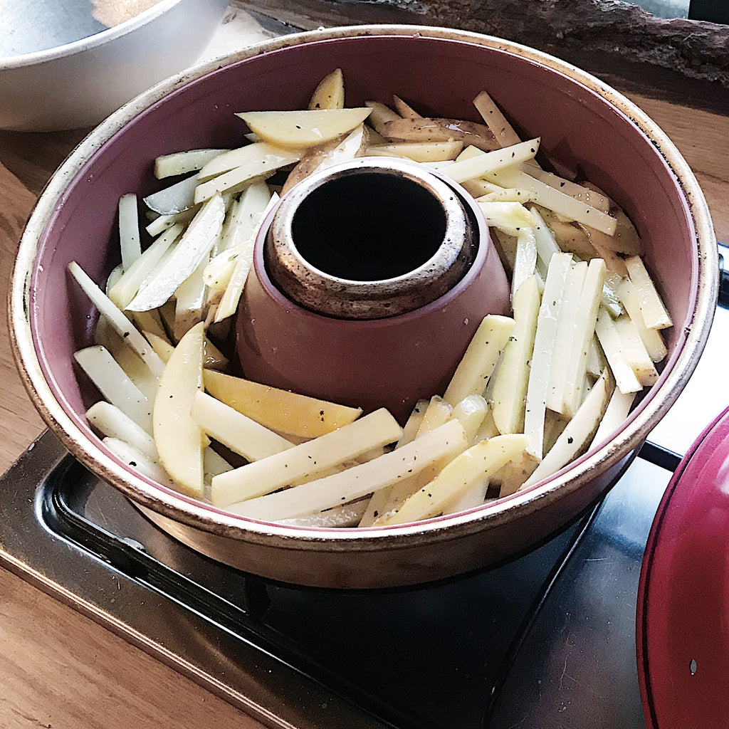 Homemade fries in an Omnia Oven