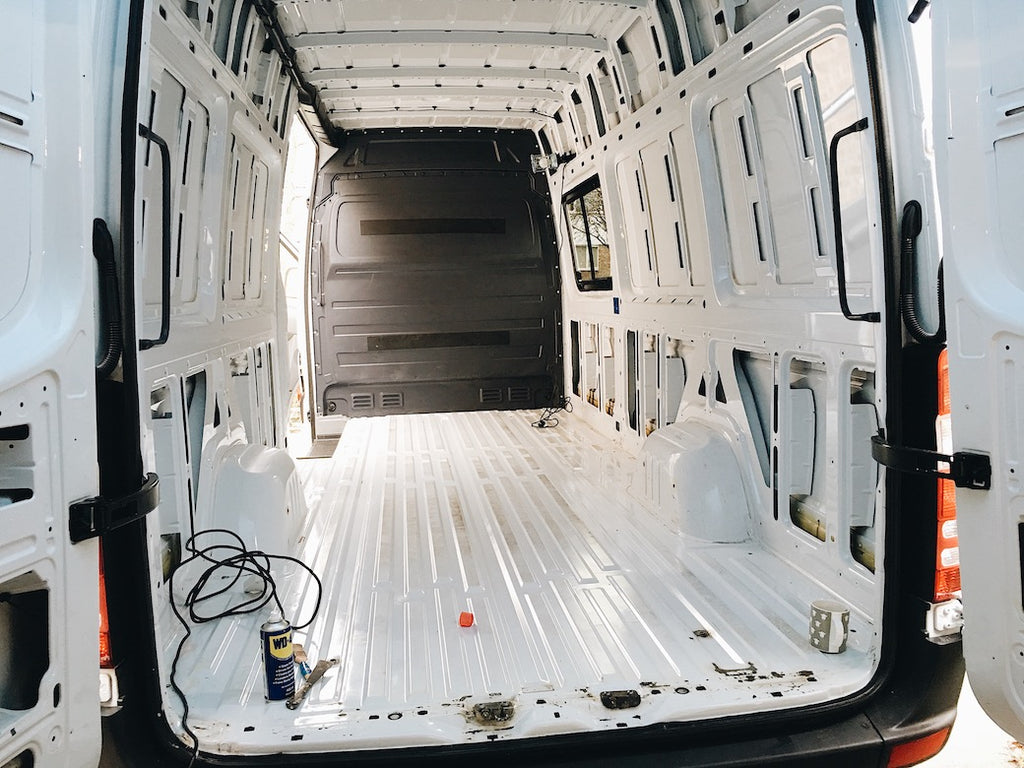 Preparing and cleaning a sprinter campervan ready for conversion