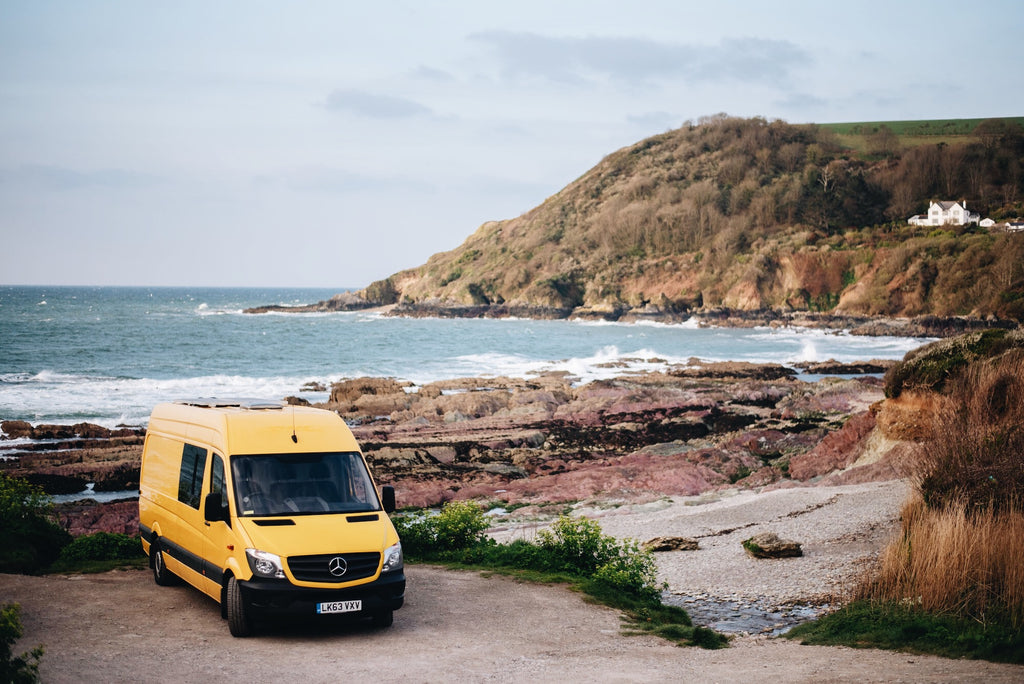 Climbing van at talland bay