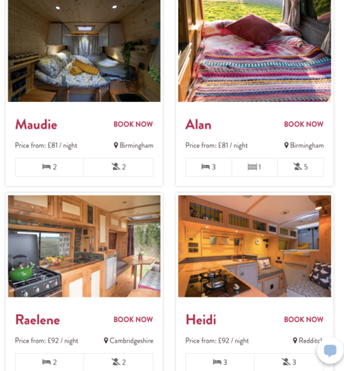 Hire a campervan to help decide what layout in a campervan conversion