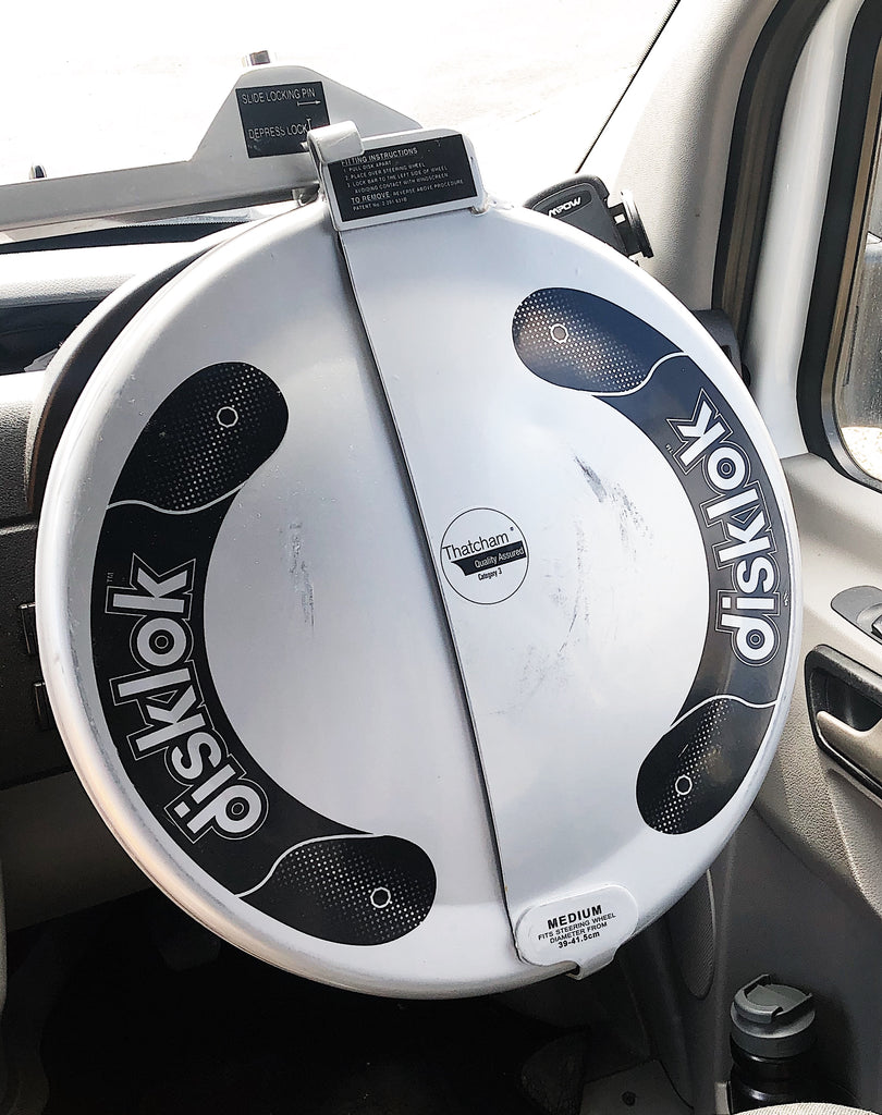 Disklok wheel lock for campervan security