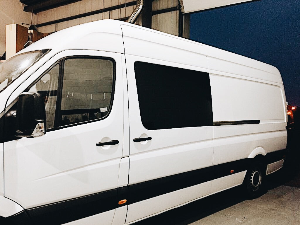Installing campervan windows in a mercedes sprinter conversion