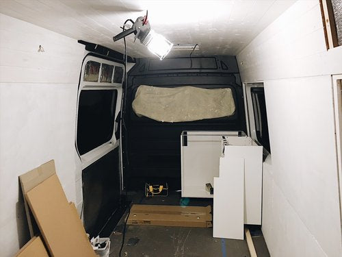 Installing an Ikea kitchen in a self build campervan