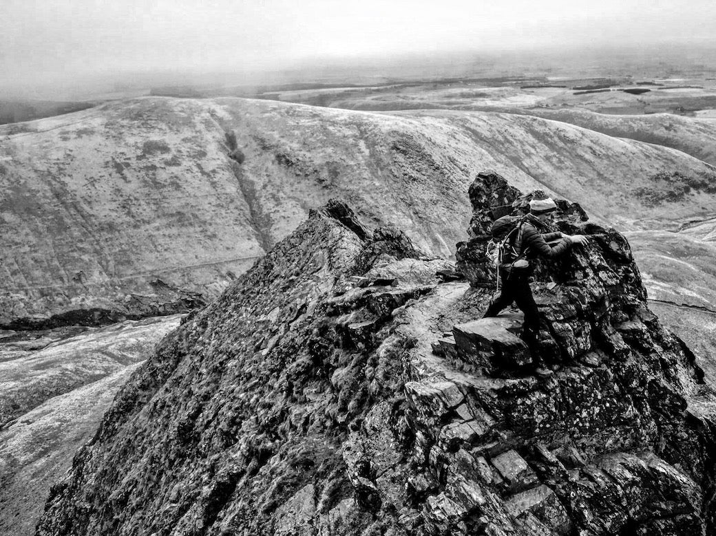 The bad step on sharp edge Lake District