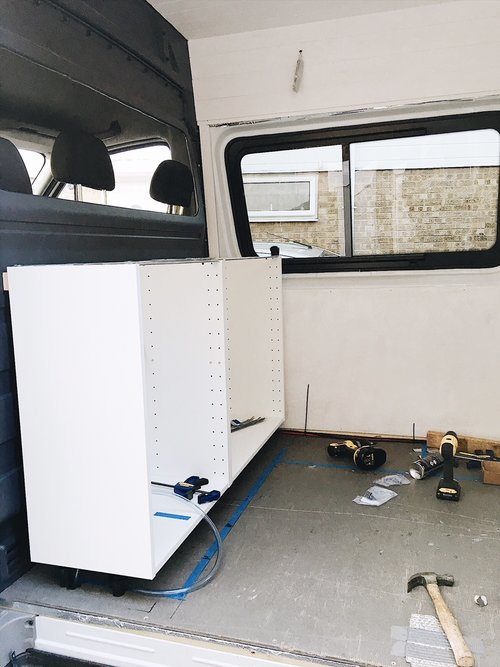 Installing an ikea kitchen in a campervan conversion