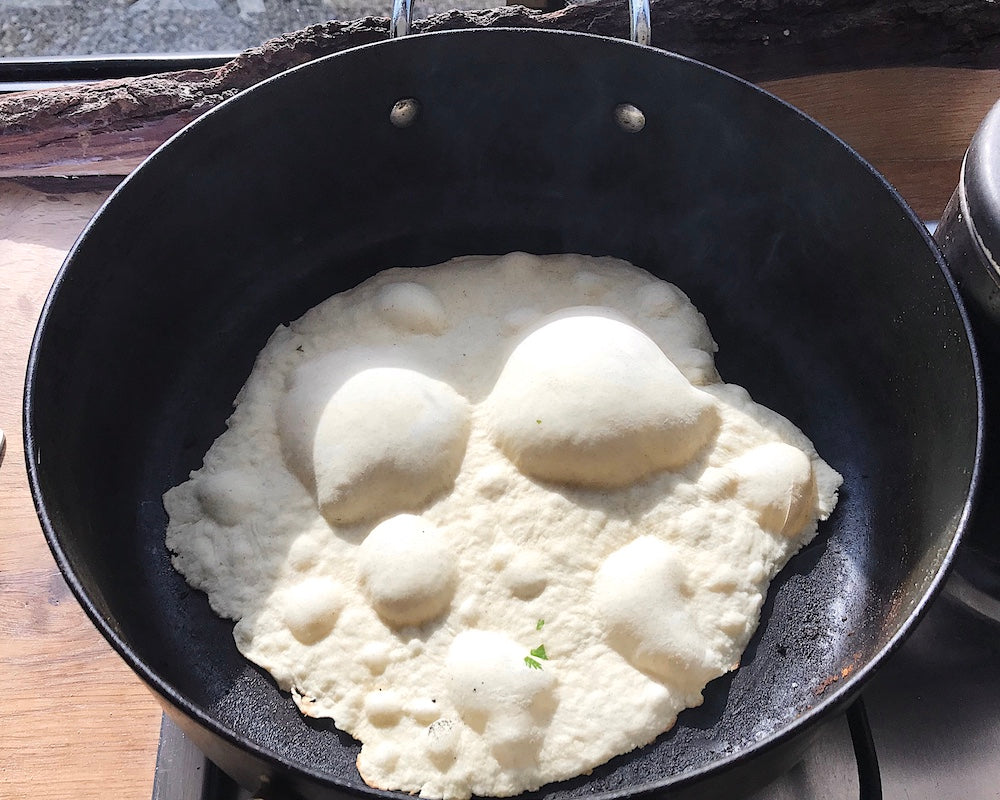 Naan Bread in a Frying Pan