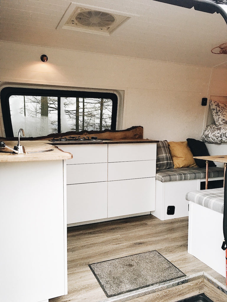 Ikea Kitchen in a self build sprinter campervan conversion