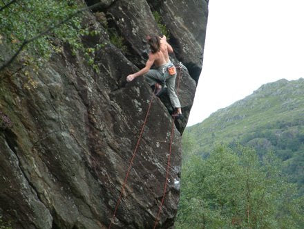 Dave Macleod 24/8 challenge trad climbing route