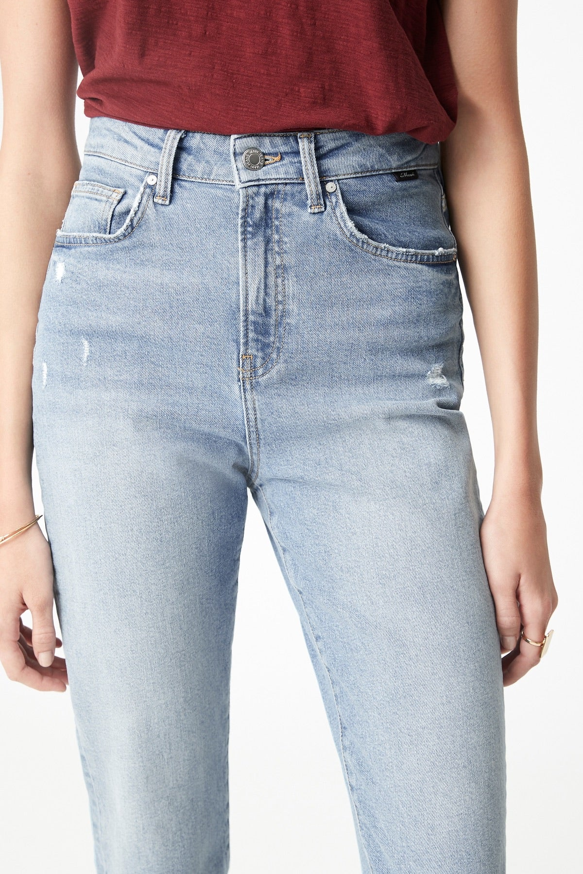 Mavi II STAR High Rise Lt Used Blue MOM jean