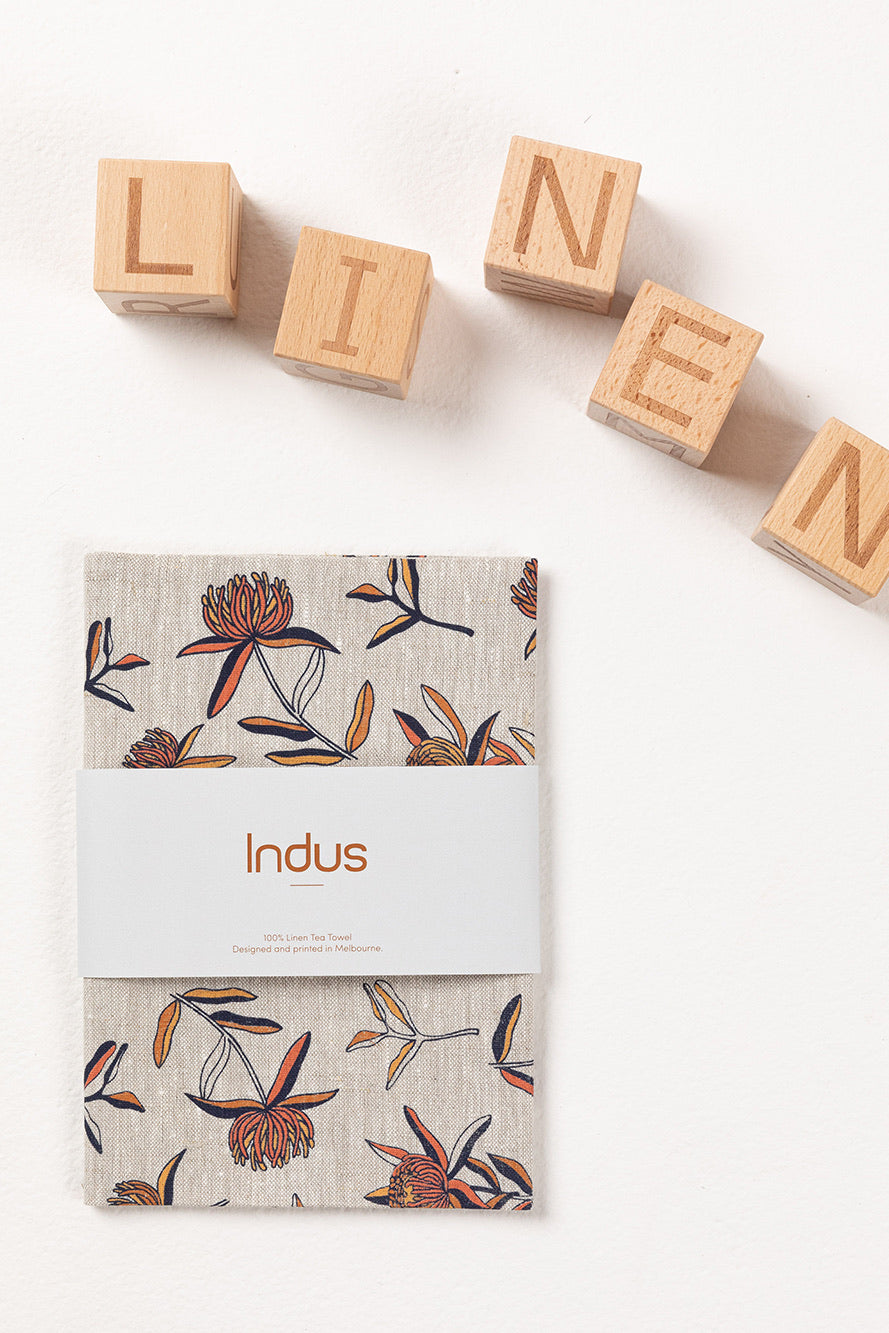 Indus Design // Waratah Linen Tea Towel