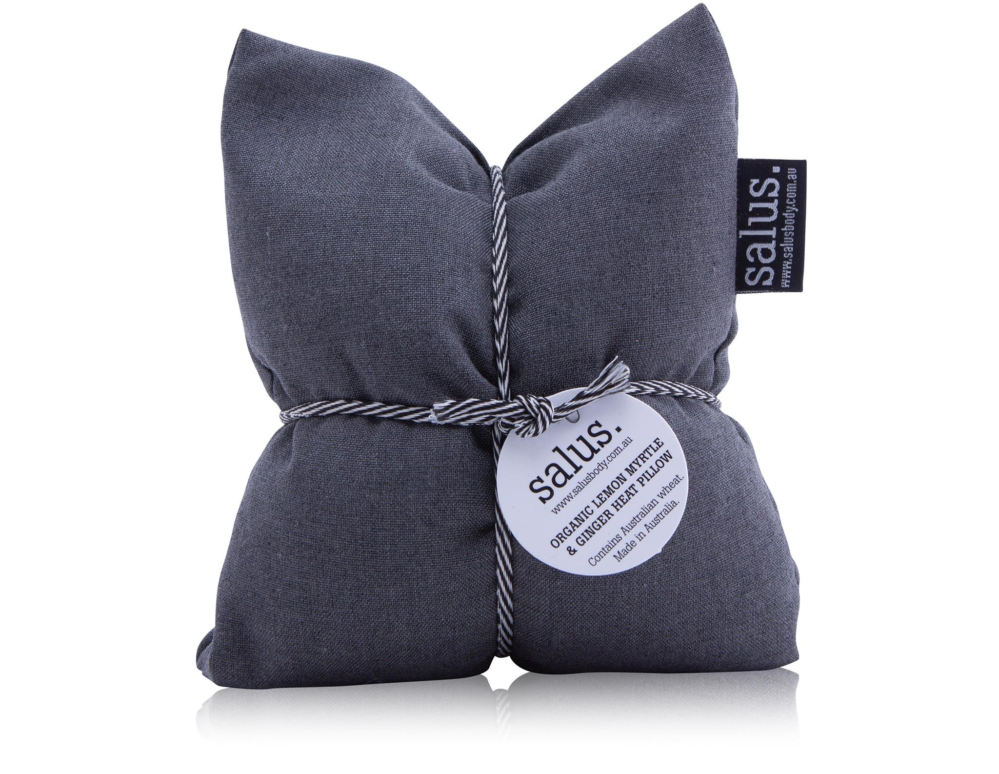 Salus. II Organic LEMON MYRTLE & GINGER HEAT PILLOW / grey