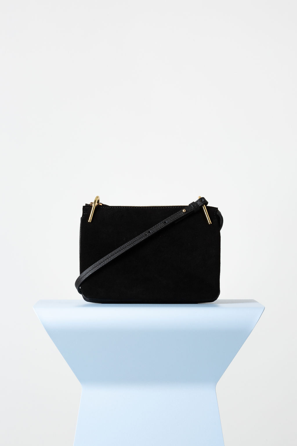 VASH II FIFI Cross Over Suede / Leather Bag - black