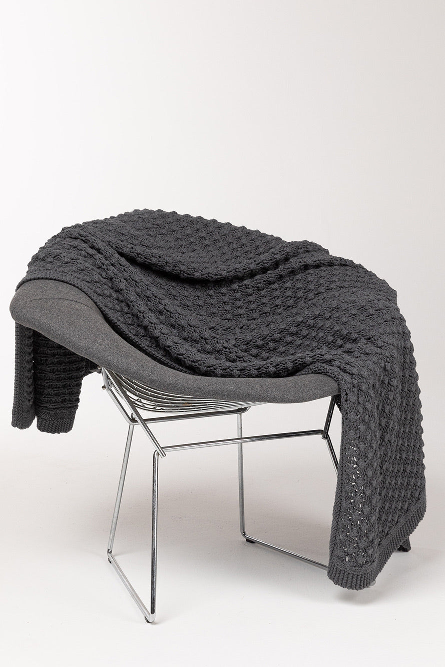 Indus Design // Homeware POPCORN Throw Rug - charcoal