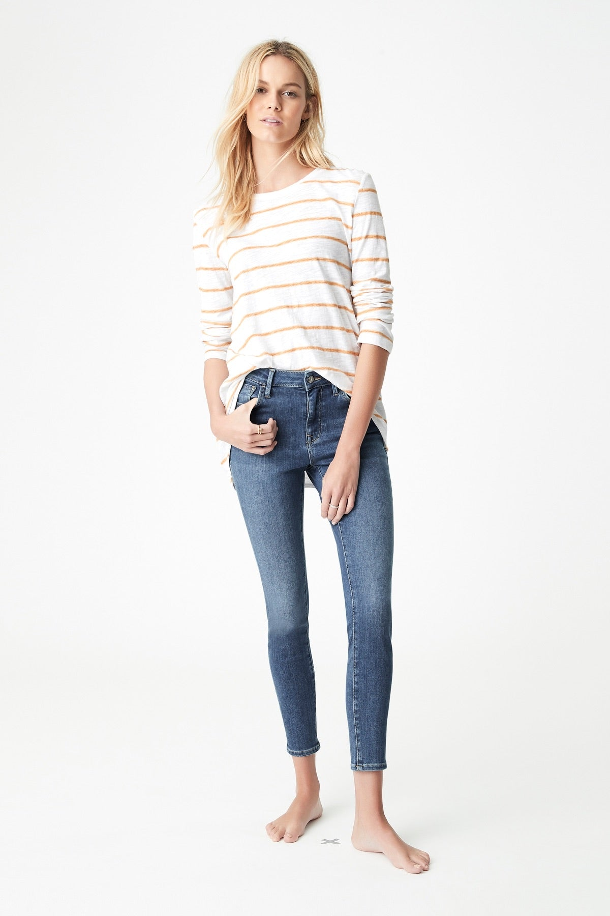 Mavi II TESS Mid Super Soft Denim Jean