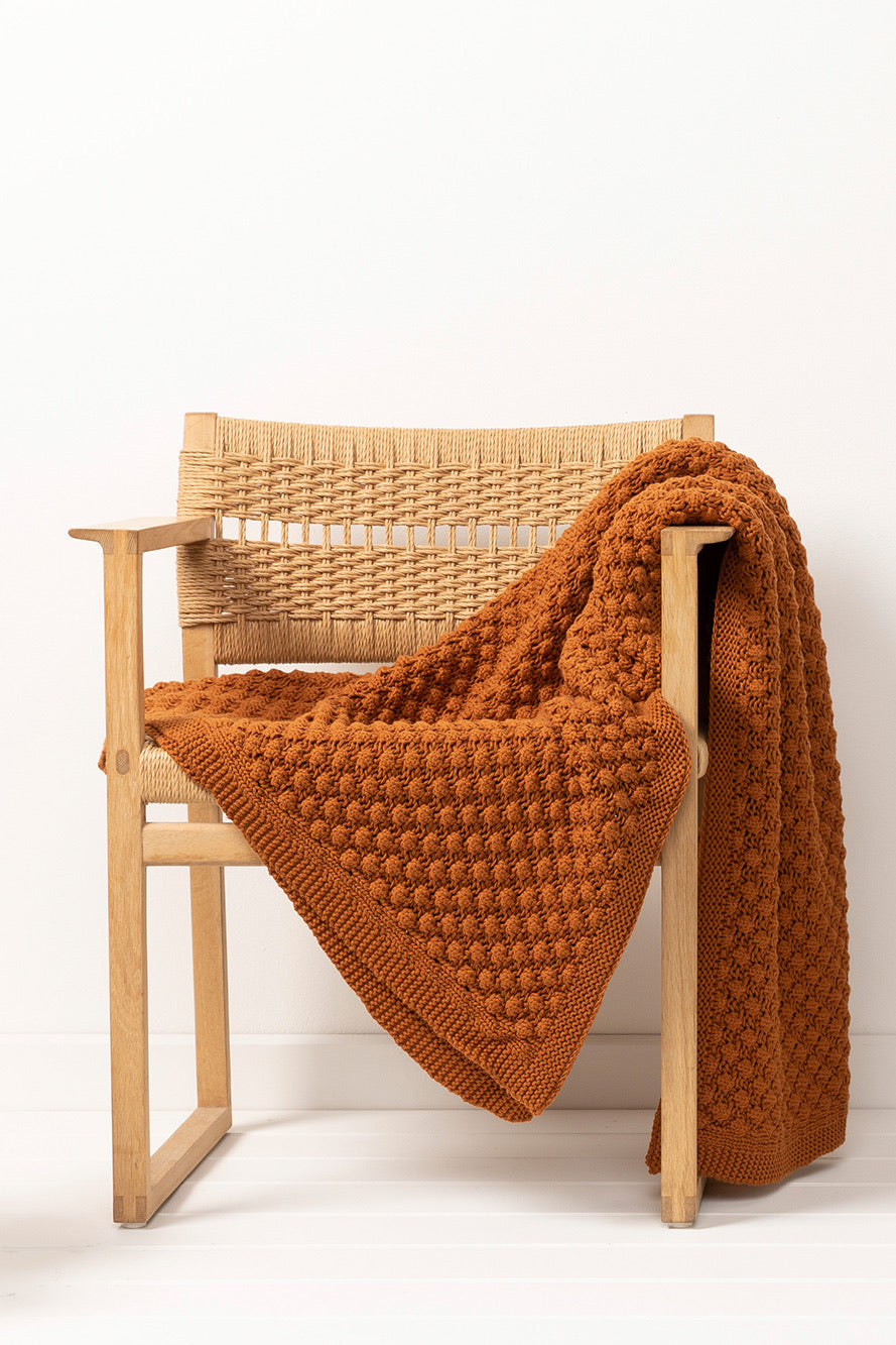 Indus Design // Homeware POPCORN Throw Rug - rust