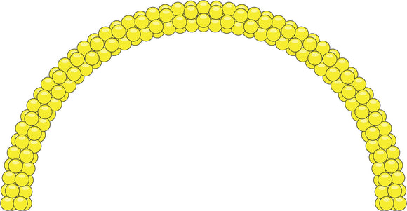 Yellow Balloon Arch