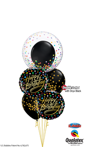 Birthday Black & Gold Confetti