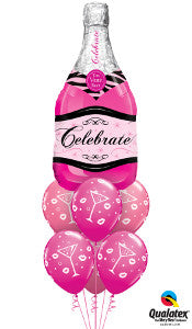 Celebrate Pink Champagne - Balloonery