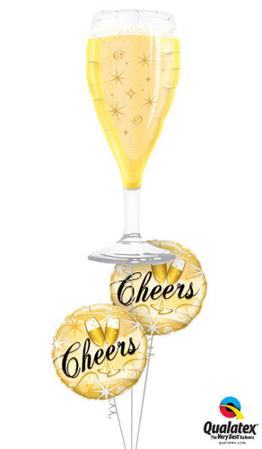 Cheers! Bubbly Glass - Balloonery