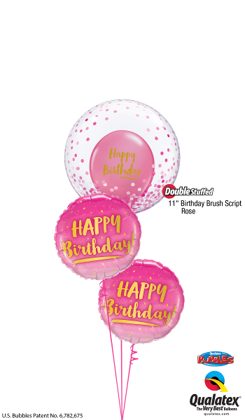 Confetti Rose Bubble Birthday - Balloonery