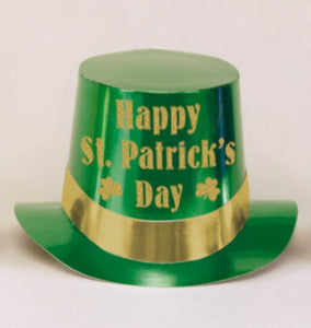 GREEN FOIL TOP HAT HAPPY ST PATRICK'S DAY - Balloonery