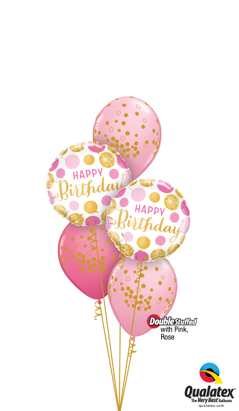 Happy Birthday Glittering Polka Dots - Balloonery