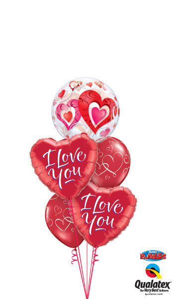 I Love You Heart Bubble - Balloonery