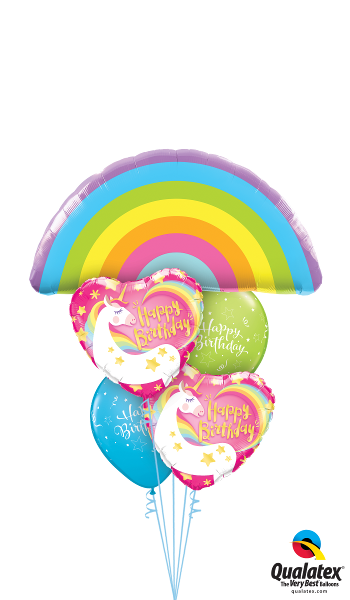 Rainbows & Unicorns Birthday - Balloonery
