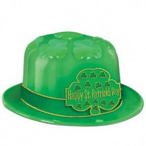 HAPPY ST PATRICK'S DAY SHAMROCK DERBY PLASTIC HAT - Balloonery