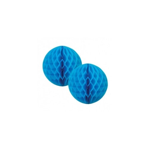 Paper Party Honeycomb Electric Blue 15cm (2pk) - Balloonery