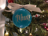 Personalised Glitter Baubles