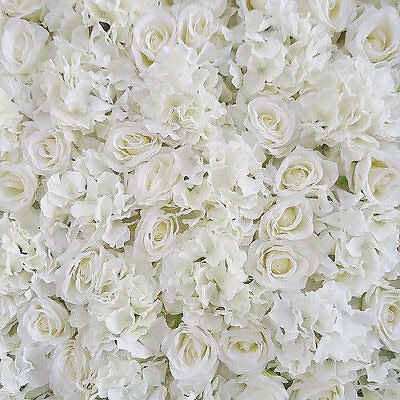 Simply White Flower Wall Hire - Balloonery