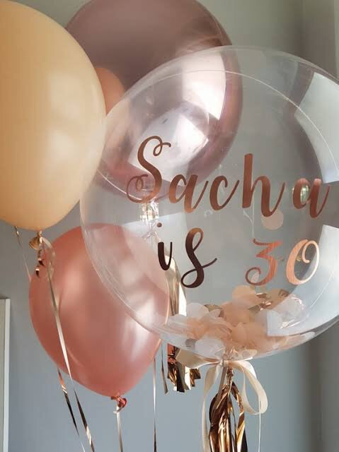 Personalised Decor Bubble - Confetti - Balloonery