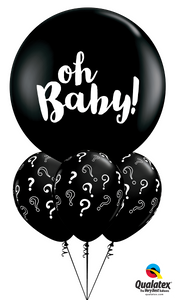 "Big ""Oh, Baby!"" Question Mark - Balloonery"