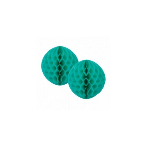 Paper Party Honeycomb Classic Turquoise 15cm (2pk) - Balloonery