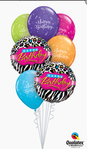 Happy Birthday Zebra - Balloonery